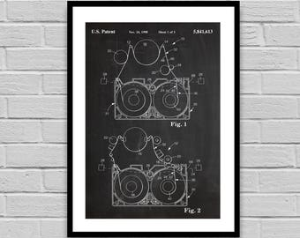VHS Patent VHS Tape Poster VHS Blueprint Vhs Print home decor Collectible gifts Vintage art p1338