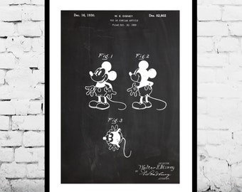 Disney Mickey Mouse Patent, Mickey Mouse Poster, Mickey Mouse Print, Mickey Mouse Decor, Mickey Mouse Art, Mickey Mouse Wall Art p1141