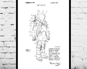 Space, Space Suit Poster, Space Suit Patent, Space Suit Print, Space Suit Decor, Space Suit Art, Space Suit Blueprint, Space Suit  p1162