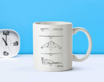 Stealth Bomber patent mug  coffee mug  coffee lover  patent art  patent mug  Military Gift Army Gift VintageAir Force DecorM44