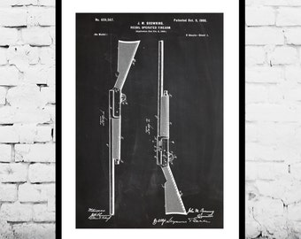 Recoil Operated Firearm Patent Recoil Operated Firearm Poster Recoil Operated Firearm Print Recoil Operated Firearm Art Shotgun p1275