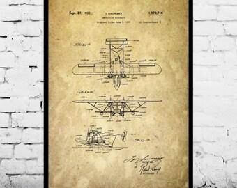 Sea Plane Patent Sea Plane Poster Sea Plane Blueprint Sea Plane Print Sea Plane Art Sea Plane Decor p422