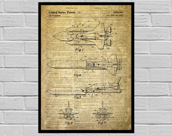 NASA Space Shuttle Print, NASA Space Shuttle Poster, NASA Space Shuttle Patent, Nasa Space Shuttle Blueprint, Nasa Space Shuttle Art p1151