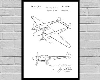 Airplane Patent Airplane Decor Airplane Art Airplane Print Aviation Decor Airplane Patent Aviation Art Aviation Art Pilot Gift p363