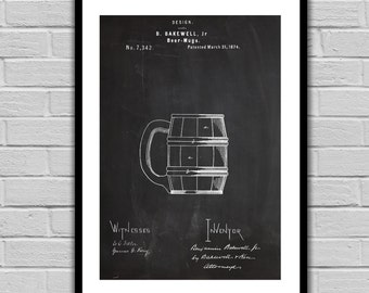 Beer Mugs Patent Beer Mugs Poster Beer Mugs Blueprint Beer Mugs Print Beer Mugs Art Beer Mugs Decor p1234