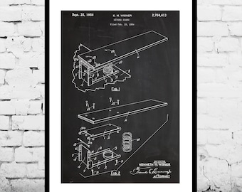 Diving Board Patent, Diving Board Poster, Diving Board Blueprint,  Diving Board Print, Diving Board Art, Diving Board Decor p094