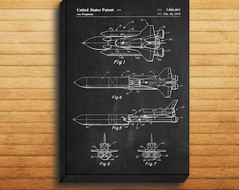 CANVAS  NASA Space Shuttle Art Nasa Space Shuttle Print Nasa Space Decor Nasa Space Shuttle Patent Space Shuttle Blueprint p216