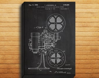 CANVAS  Motion Picture Projector Art Motion Picture Projector Print Motion Picture Projector Patent Motion Picture Projector p018