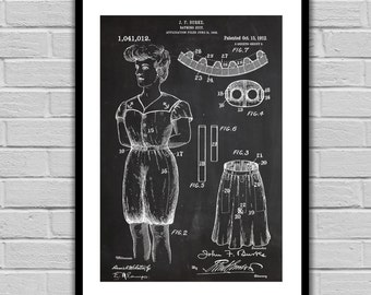 Bathing Suit Patent Bathing Suit Poster Bathing Suit Print Bathing Suit Art Bathing Suit Decor Bathing Suit Blueprint p370