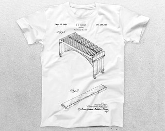 Marimba Patent T-Shirt, Marimba Blueprint, Patent Print T-Shirt, Marimba Shirt, Marimba Player Shirt, Music Teacher Gift p202