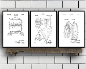 skydiving Patents Set of 3 Prints, skydiving Prints, skydiving Posters, skydiving Blueprints, skydiving Art, skydiving SP360