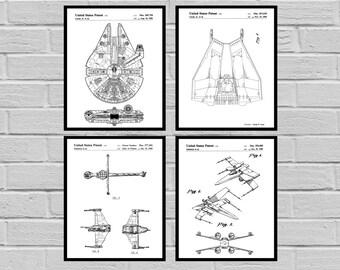 Star Wars patent Millennium Falcon Tie Bomber Xwing ATAT Star Wars Poster Star Wars Patent Millennium Falcon Star Wars Print SP549