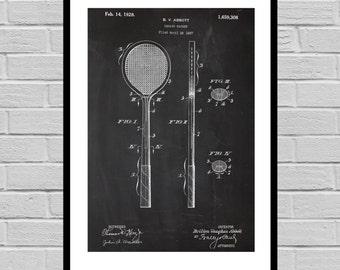 Squash Racket Print, Squash Racket Patent, Squash Racket Poster, Squash Racket Blueprint, Squash Racket Art, Squash Racket Decor p874
