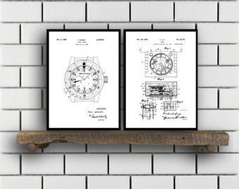 Watch Patent Set of THREE Watch Invention Patent Wrist watch Poster Watch Print Timepiece Patent Watch Inventions SP130