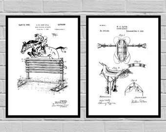 Equestrian Inventions Equestrian Patent Equestrian Art Equestrian Wall Art Horse Saddle Patent Horse Jump Patent SP494
