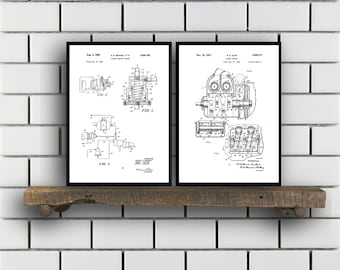Diesel Engine Related Patent Set of TWO Diesel Engine Invention Patent Diesel Engine Poster Diesel Engine Engine SP378