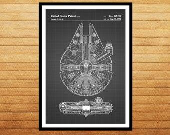 Star Wars patent Millennium Falcon Star Wars Poster Millennium Falcon Star Wars Patent Star Wars patent Print Millennium Falcon patent p933