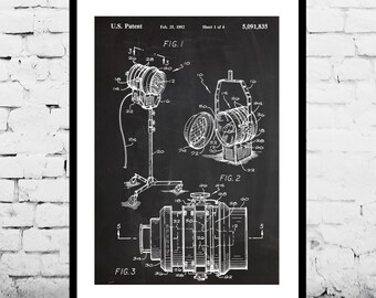 Theatre Spotlight Patent, Theatre Spotlight Poster, Spotlight Print, Spotlight Art, Spotlight Decor, Spotlight Blueprint p1169