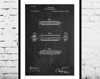 Harmonica Patent, Harmonica Poster, Harmonica Print, Harmonica Decor, Harmonica Art, Harmonica Blueprint, Harmonica Wall Art, Harmonica p156