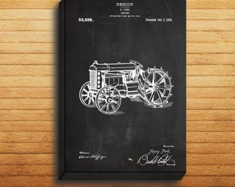 Tractor Patent Tractor Poster Tractor Print Tractor Art Tractor Decor Tractor Blueprint p302