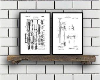 Woodworking Patent Prints Set of TWO Woodworking Tools Patents Tools Carpenter tool Inventions Woodworking Decor Mancave SP388