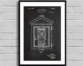 Fire Alarm Patent Fire Alarm Patent Poster Fire Alarm Blueprint Fire Alarm Print Firefighter Decor Vintage Fireman Gift Firehouse Decor p548