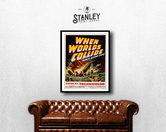 MOVIE poster  vintage When Worlds Collide Classic Horror space poster Poster Art Vintage Print Art Home Decor movie poster art Movie sp607