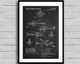 Helicopter Patent Helicopter Patent Poster Helicopter Blueprint Helicopter Print Pilot Gift Aeronautics Aircraft Aircraft Decor p387