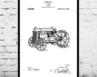 TRACTOR Patent, Tractor Poster, Tractor Print, Tractor Art, Tractor Decor, Tractor Wall Art, Tractor Blueprint p302