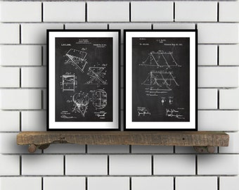 Camping Patent Prints Camping Set of TWO vintage Camping Invention Patent Camping Poster Camera Print Camping Camping Tent SP268