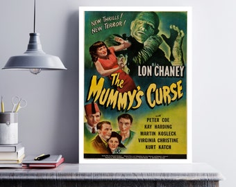MOVIE poster vintage The Mummy's Curse Classic Horror space poster Poster Art Vintage Print Art Home Decor movie poster Fantasy Decor sp655
