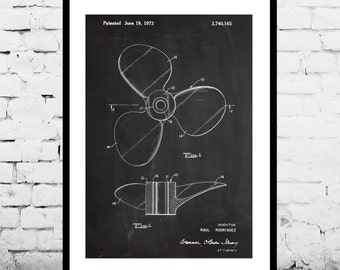 Boat Propeller Patent Boat Propeller Poster Boat Print Boat Art Boat Propeller Blueprint Boat Wall Art Boat Decor Nautical gift p374