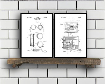 Optometry Prints  Set of 2  Optometry Patent Optometry Poster Optometry Blueprint Optometry Print Optometry Art Optometry sp340