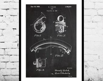 Tuba Print, Tuba Poster, Tuba Patent, Tuba Decor, Tuba Wall Decor, Tuba Wall Art, Tuba Blueprint, Tuba, Brass Instrument, Musical Decor p892