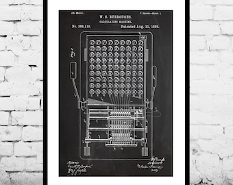 First Calculator Print First Calculator Poster First Calculator Patent First Calculator Decor First Calculator Art Calculator Art p568