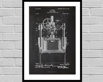 Patent Print of an Wine press - Art Print - Patent Poster - Wine - Wine Art - Wine Tasting - Wine Decor - Bar - wine rack p683