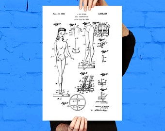 Barbie Doll Patent, Barbie Doll Poster, Barbie Doll Print, Barbie Doll Art, Barbie Doll Decor, Troll Doll Blueprint , Barbie Doll Art p040