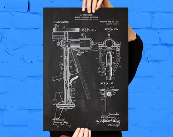 Outboard Motor Print Outboard Motor Patent Outboard Motor Print Nautical Decor Gifts for Boaters Boating Art Boat Decor Boat Art p056