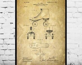 Roller Skates Patent, Roller Skates Poster, Roller Skates Print, Roller Skates Art, Roller Skates Decor, Roller Skates Blueprint p249