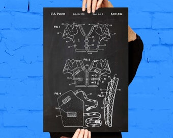 Football Shoulder Pad Patent, Shoulder Pad Poster, Football Shoulder Pad Print, Football Shoulder Pad Art, Football Uniform Decor p802