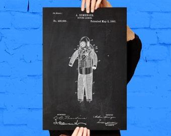 Diving Suit Print, Diving Suit Poster, Diving Suit Patent, Diving Suit Art, Diving Suit Decor, Diving Suit Blueprint , Diving Art p765
