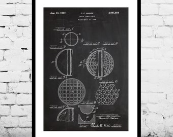 Ping Pong Ball Print, Table Tennis Ball Poster, Table Tennis Ball Patent, Table Tennis Ball Blueprint, Table Tennis Art, Ping Pong Ball p845