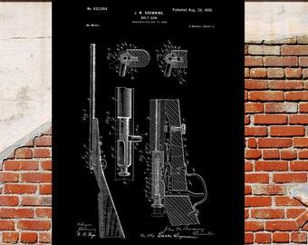 Browning Bolt Gun Poster Browning Bolt Gun Patent Browning Bolt Gun Print Browning Bolt Gun Art Browning Gun Blueprint Gun Decor p4