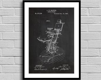 Dental Chair Patent Dental Chair Patent Poster Dental Chair Blueprint Dental Chair Print Dentist Gift Office Decor Vintage Decor p1355