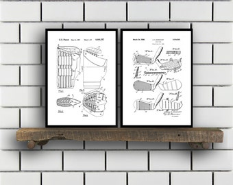 Golf Related Patent Set of TWO Golf Invention Patent Golf Poster Golf Club Print Golf Patent Golf Inventions SP146