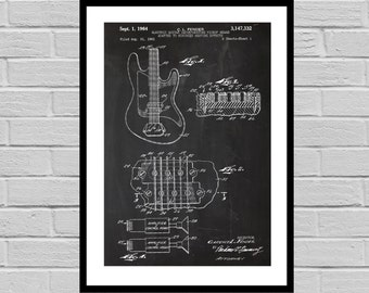 Fender Electric Guitar Poster, Fender Electric Guitar Patent, Fender Guitar Print, Fender Electric Guitar Decor, Fender p774