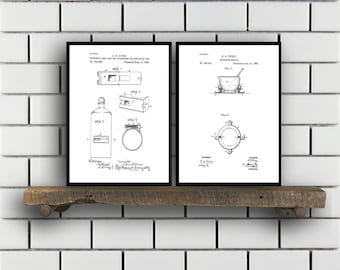 Drugstore Patent Prints Set of TWO Drugstore Invention Patents Drugstore Poster Drugstore Inventions Pharmacist Decor Pharmacy SP382