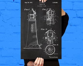 Lighthouse Patent Lighthouse Poster Lighthouse Print Lighthouse Art Lighthouse Blueprint Lighthouse Wall Art Lighthouse Decor p193