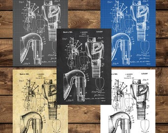 INSTANT DOWNLOAD - Bagpipe Patent, Bagpipe Patent Poster, Bagpipe Blueprint, Bagpipe Bottle Print, Mancave decor, Gift for him, Bagpipe art
