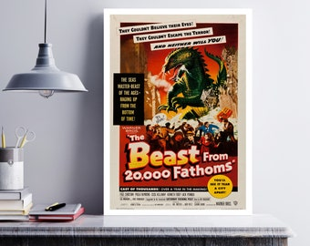 MOVIE poster vintage The Beast From 20,000 Fathoms Classic Horror space poster Poster Art Vintage Print Art Home Decor movie poster sp632